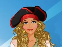 Флеш игра Студия макияжа: Девушка-пират