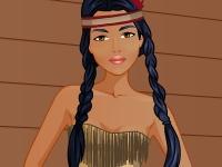 Флеш игра Студия макияжа: Принцесса Покахонтас