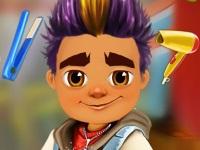 Флеш игра Subway Surfers: Джейк в парикмахерской