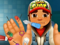 Флеш игра Subway Surfers: Травма рук