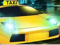Флеш игра Сумасшедшее такси в городе