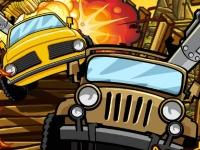 Флеш игра Сумасшедшие колеса