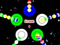 Флеш игра Сумасшедшие космические шары