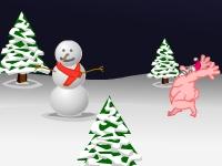 Флеш игра Сумасшедший Санта