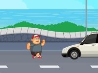 Флеш игра Сумасшедший бегун по дороге