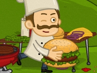 Флеш игра Сумасшедший гамбургер