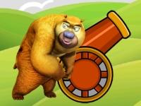 Флеш игра Сумасшедший медведь с пушкой