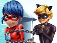 Флеш игра Супер Кот спасает Леди Баг