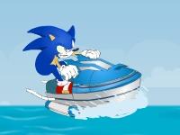 Флеш игра Супер Соник на водном мотоцикле 2