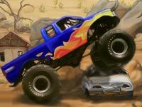 Флеш игра Супер гонка на грузовике монстре 2
