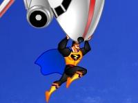 Флеш игра Супермен спасает самолет