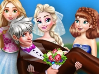 Флеш игра Свадебное фото Эльзы