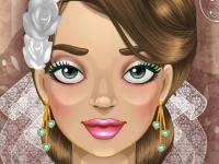 Флеш игра Свадебный гламурный макияж