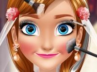 Флеш игра Свадебный макияж для Анны