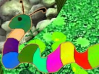 Флеш игра Тайна радужного червяка
