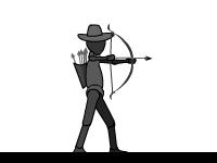 Флеш игра Темный лучник
