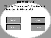 Флеш игра Тест по Майнкрафту 2