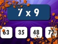 Флеш игра Тест по математике: Умножение