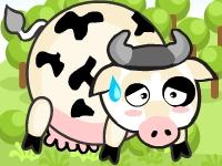 Флеш игра Тигр ест коров