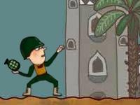 Флеш игра Точный бросок гранаты в окоп