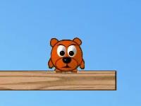 Флеш игра Толкни медведя