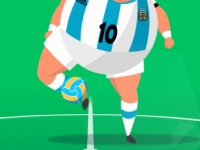 Флеш игра Толстый футболист с мячом