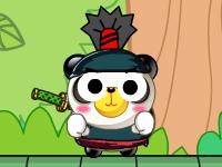 Флеш игра Толстый панда-ниндзя
