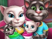 Флеш игра Том, Анжела и близнецы