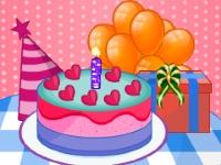 Флеш игра Торт ко дню рождения