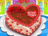 Флеш игра Торт на день Святого Валентина