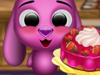 Флеш игра Тото готовит вкусный торт