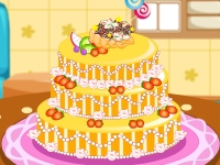 Флеш игра Трехъярусный свадебный торт