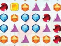 Флеш игра Три драгоценных камня в ряд