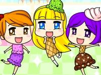Флеш игра Три мороженых в ряд