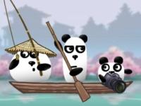 Флеш игра Три панды в Японии