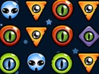 Флеш игра Три пришельца в ряд