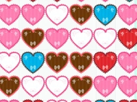 Флеш игра Три сердца в ряд на День Святого Валентина