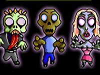 Флеш игра Три зомби в ряд