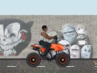 Флеш игра Трюки на квадроцикле в городе