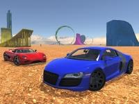 Флеш игра Трюки на спортивных авто 2