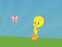 Флеш игра Твити: прыжки по облакам