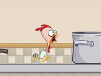Флеш игра Убегай или на сковороду попадай!
