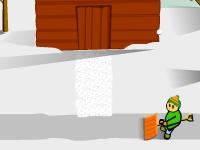 Флеш игра Убери снег