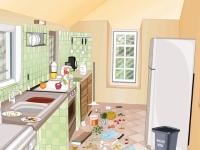 Флеш игра Уборка кухни