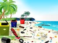 Флеш игра Уборка пляжа