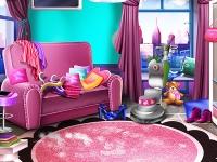 Флеш игра Уборка в девчачьей комнате