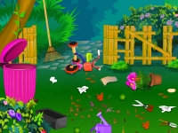 Флеш игра Уборка в любимом саду