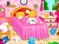Флеш игра Уборка в спальне Лили