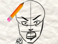 Флеш игра Учебник по рисованию 2: лица