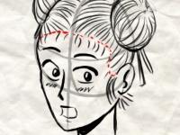 Флеш игра Учебник по рисованию: Лицо в стиле манга